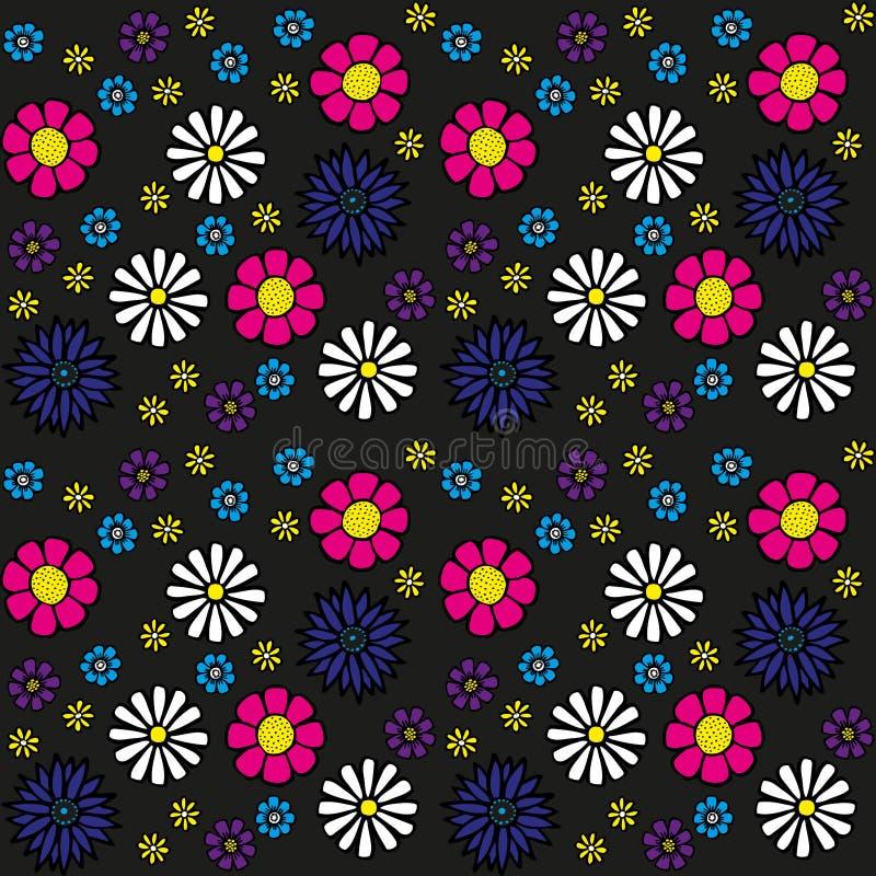 Naadloos bloempatroon stock illustratie