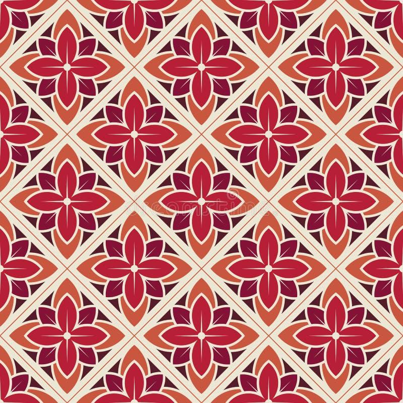 Naadloos bloempatroon Vector illustratie royalty-vrije illustratie