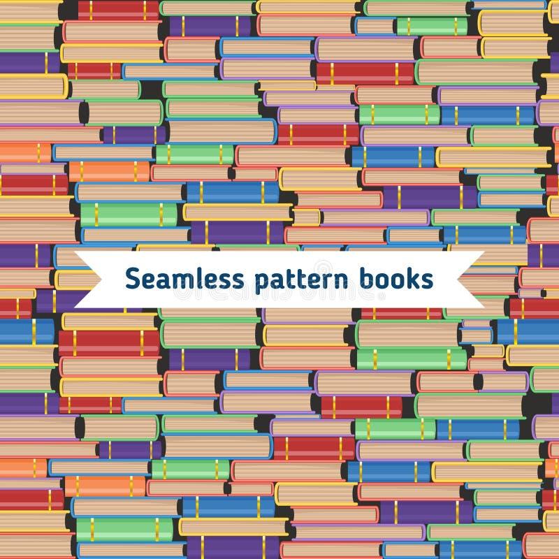 Naadloos boekenpatroon vector illustratie