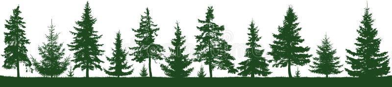 Naadloos bossparrensilhouet Parkland, park, tuin vector illustratie