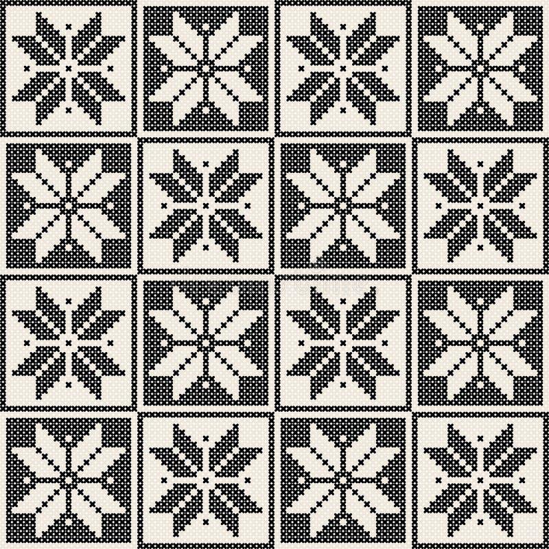 Naadloos brei patroon royalty-vrije illustratie