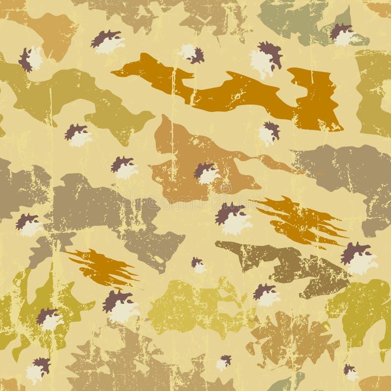 Naadloos camouflagepatroon, stock illustratie