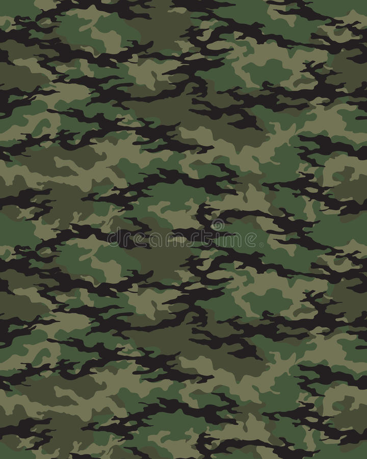 Naadloos camouflagepatroon stock illustratie