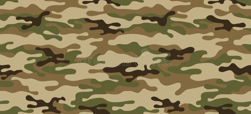 Naadloos camouflagepatroon Kaki textuur, de vector het leger van illustratie militaire herhalingen groene jacht vector illustratie