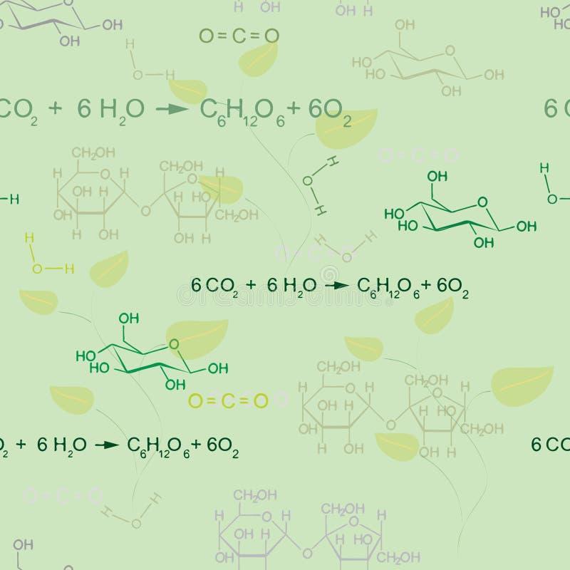 Naadloos chemiepatroon royalty-vrije illustratie