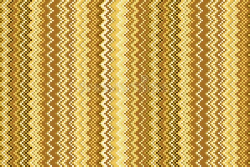 Naadloos chevronpatroon met gouden textuur vector illustratie