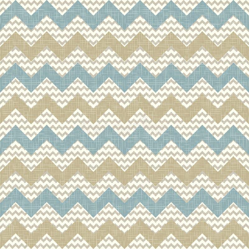 Naadloos chevronpatroon op linnentextuur royalty-vrije illustratie