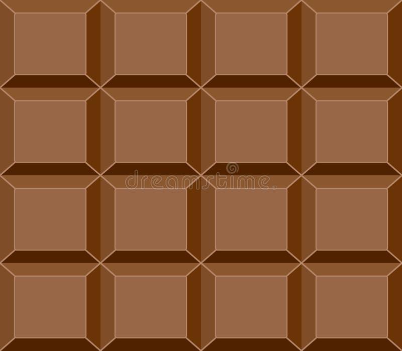 Naadloos Chocoladereeppatroon, Vector stock illustratie