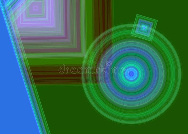 Naadloos cirkelpatroon stock afbeelding