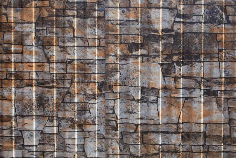 Naadloos containerpatroon Aluminiumomheining De gegalvaniseerde plaat van de staalmuur stock afbeelding