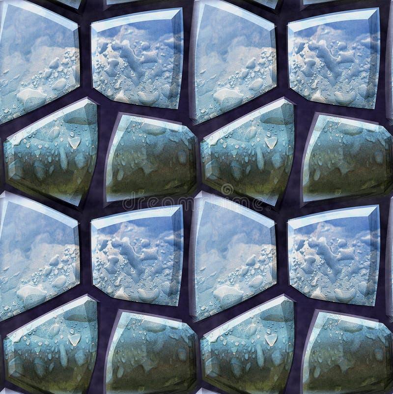 Naadloos 3d patroon van veelhoekige arduinstenen met waterdalingen stock illustratie