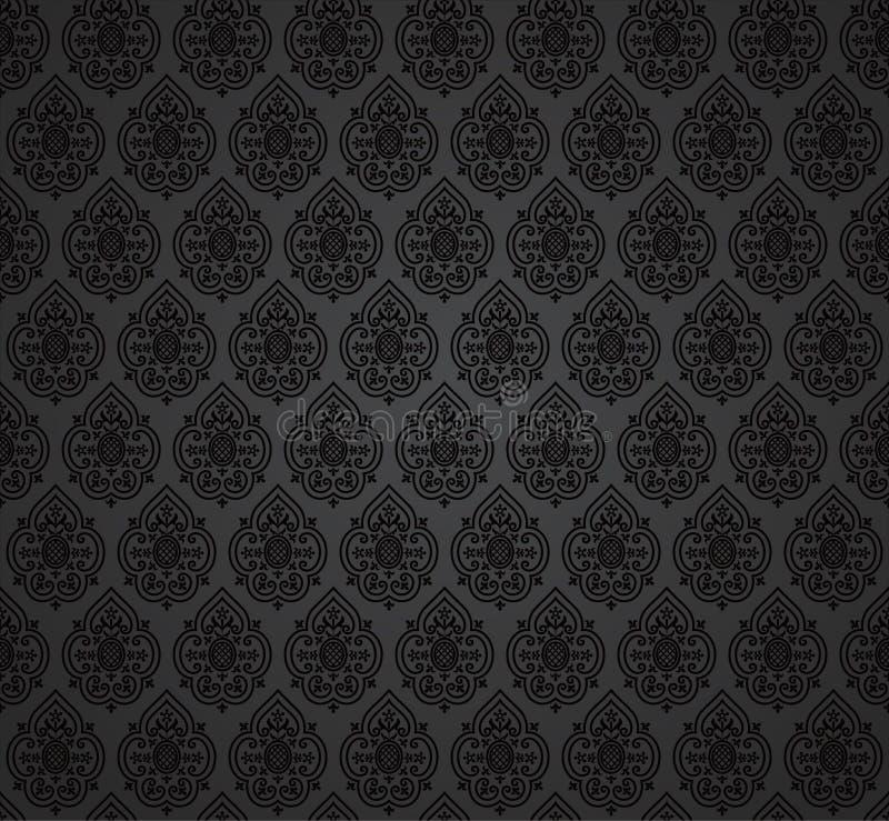 Naadloos damastbehang royalty-vrije illustratie