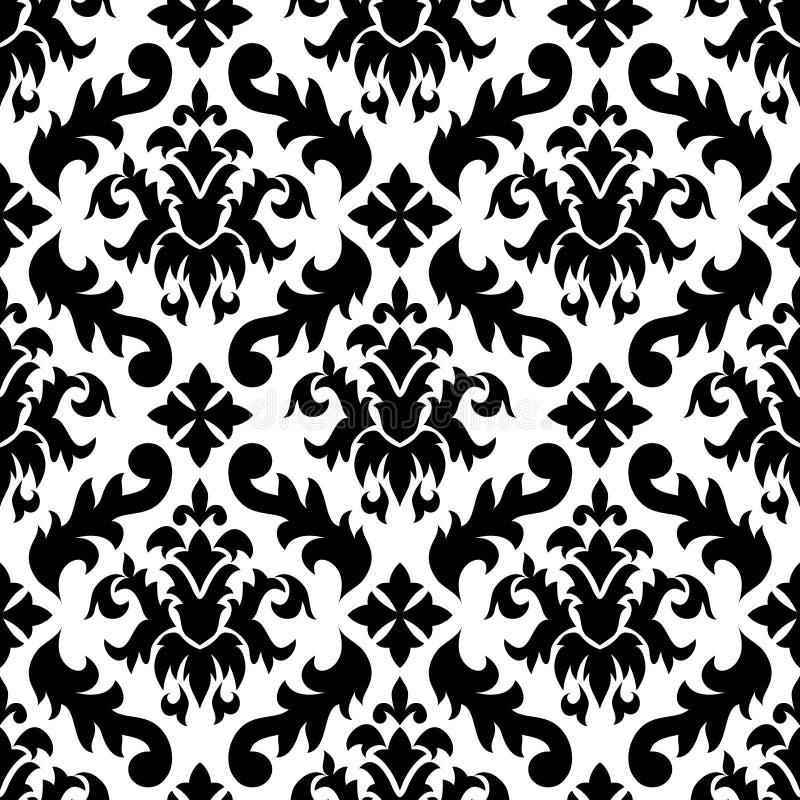 Naadloos damastpatroon vector illustratie