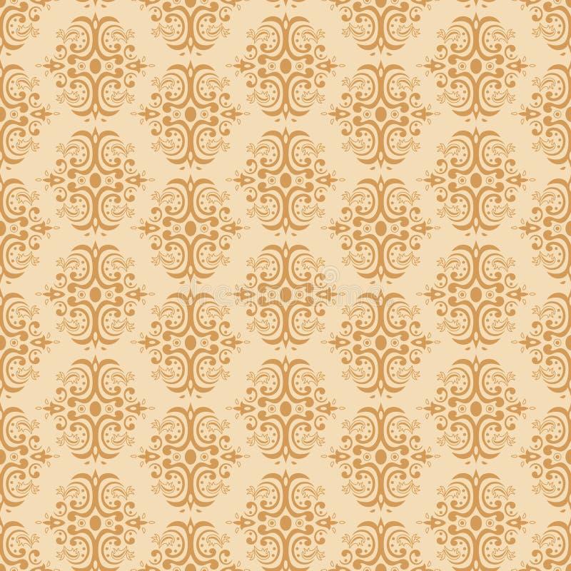 Naadloos damastpatroon royalty-vrije illustratie