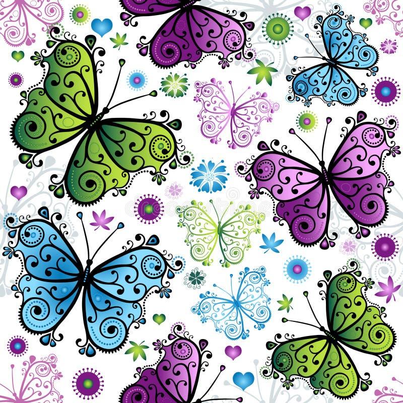 Naadloos de lente bloemenpatroon stock illustratie