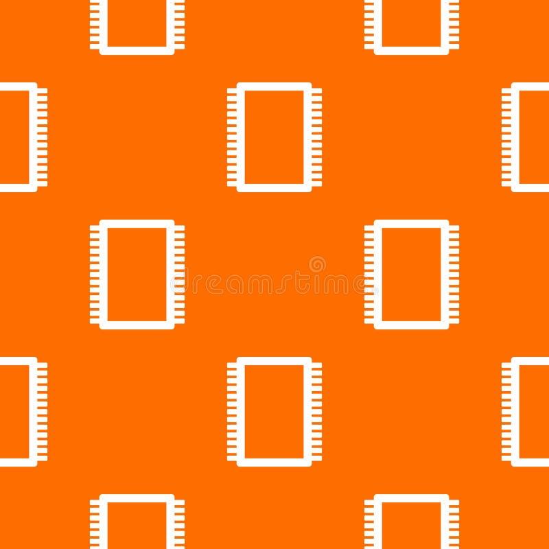 Naadloos de raadspatroon van de computer elektronisch kring stock illustratie