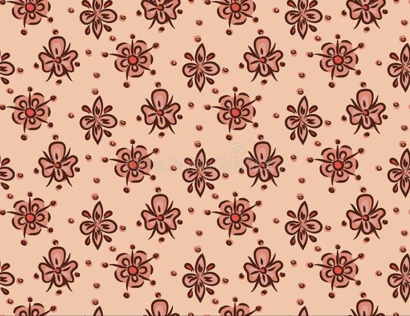 Naadloos decoratief bloemenmalplaatjepatroon royalty-vrije stock foto