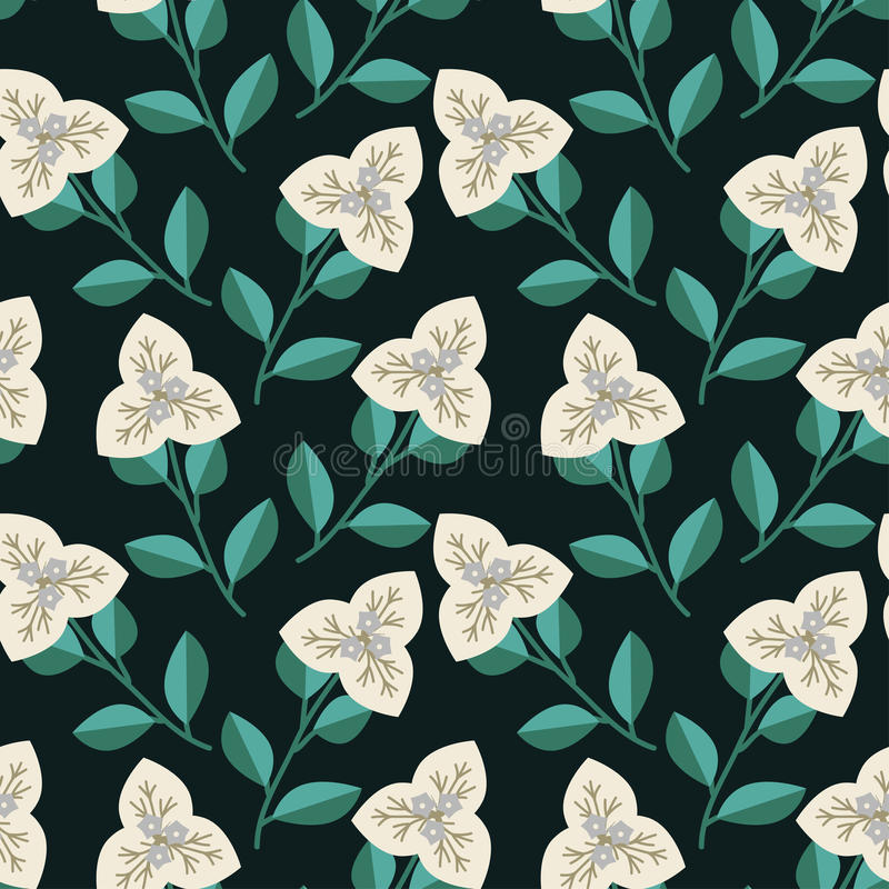 Naadloos Decoratief Patroon stock illustratie