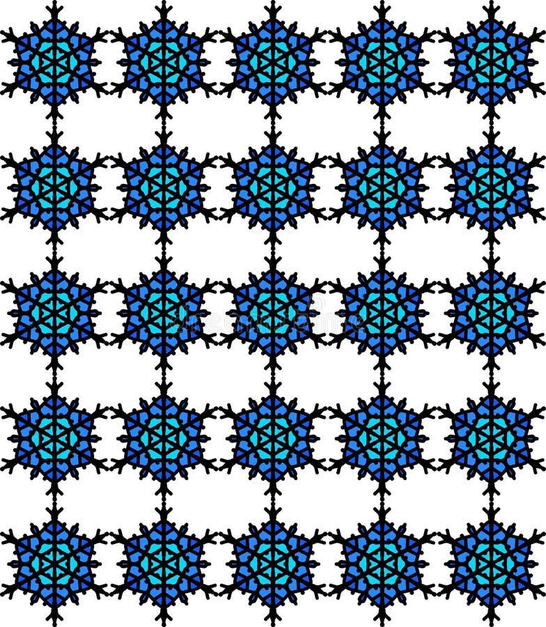 Naadloos decoratief patroon met bevallige sneeuwvlokken stock illustratie