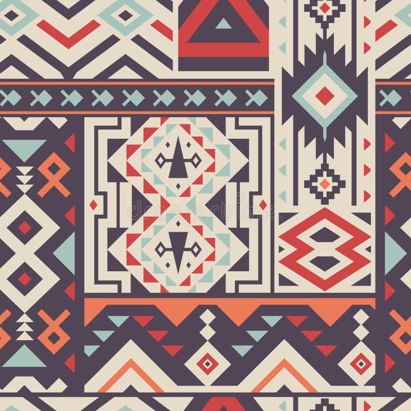 Naadloos Decoratief Vectorpatroon voor Textielontwerp royalty-vrije illustratie