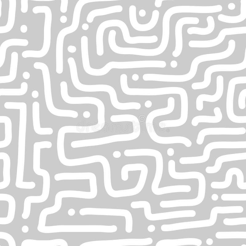 Naadloos Diagonaal Lijnpatroon Zwart-wit strepentextuur Het herhalen van geometrische eenvoudige grafische abstracte achtergrond royalty-vrije illustratie