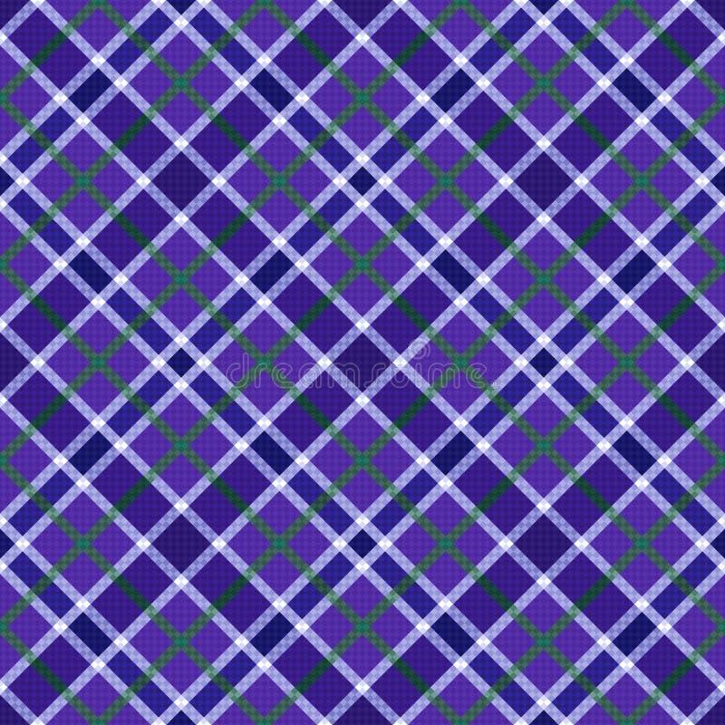 Naadloos diagonaal patroon in violette tinten stock illustratie