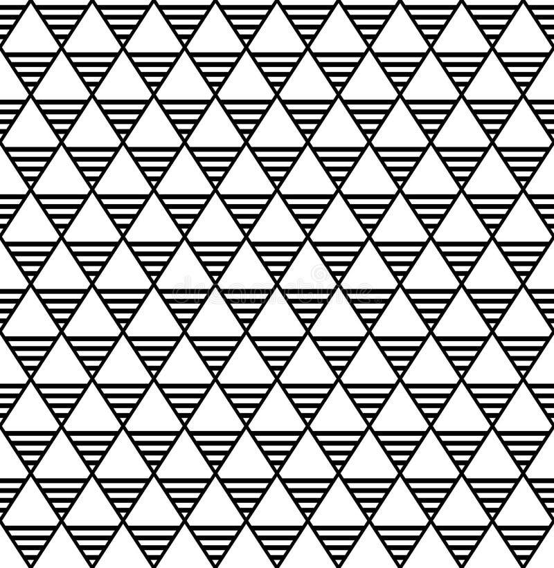 Naadloos diamanten en driehoekenpatroon royalty-vrije illustratie
