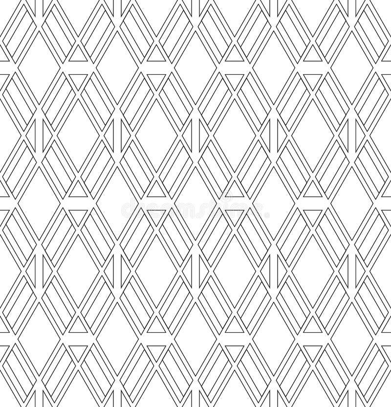 Naadloos diamanten en driehoekenpatroon vector illustratie