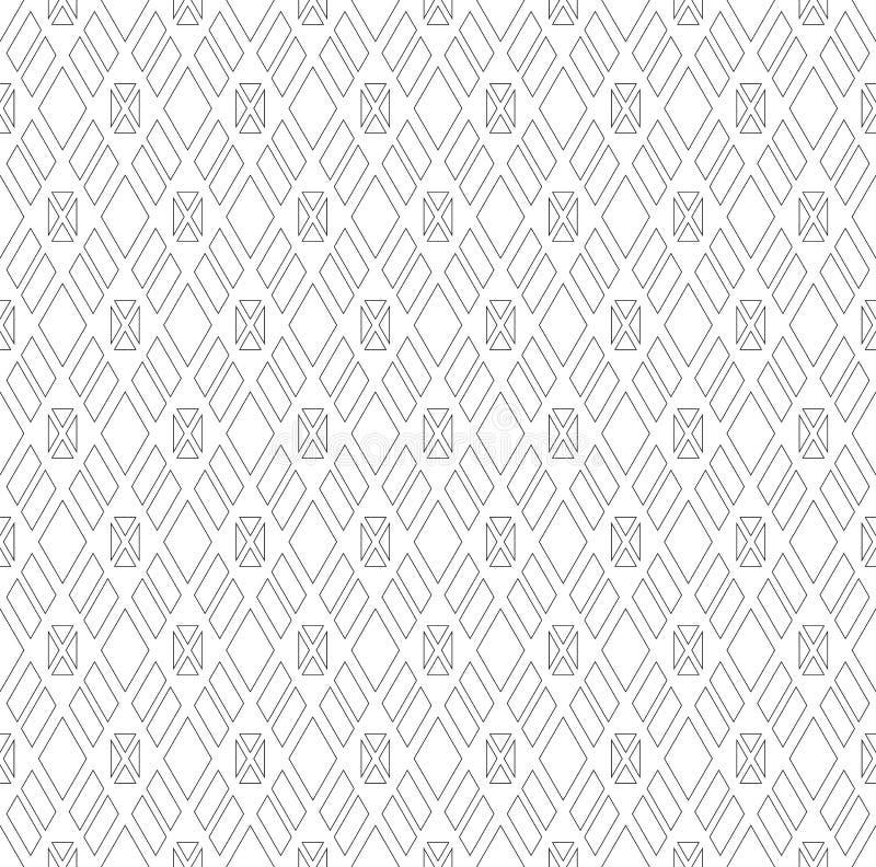 Naadloos diamanten en driehoekenpatroon stock illustratie