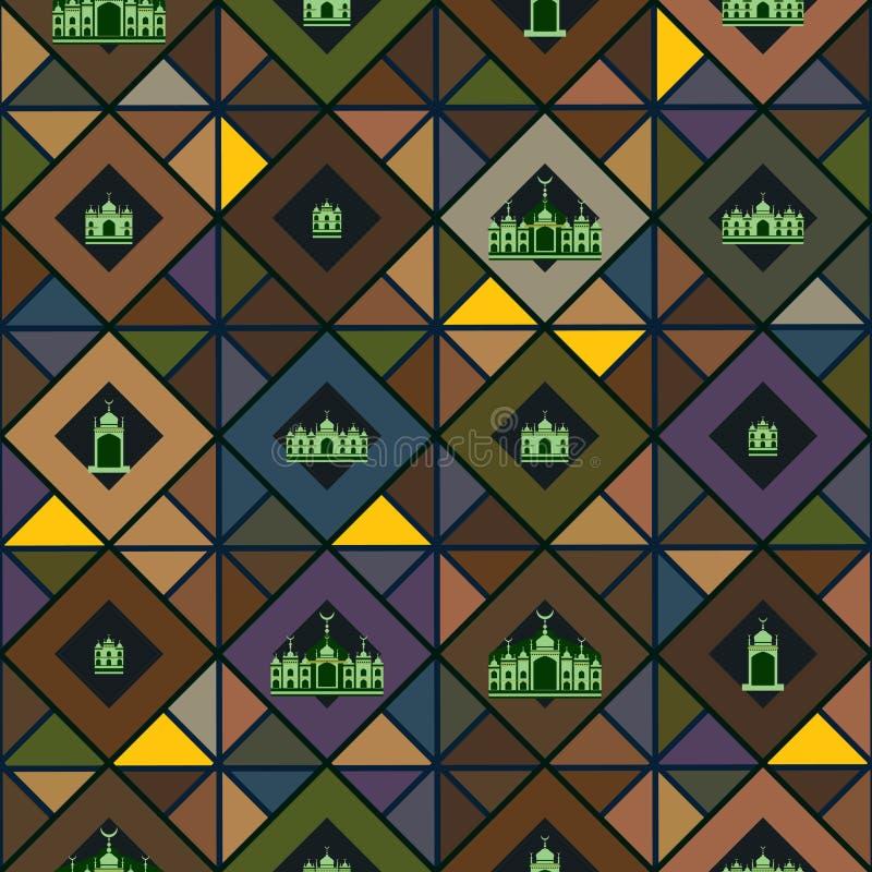 Naadloos Diamond Islamic vector illustratie