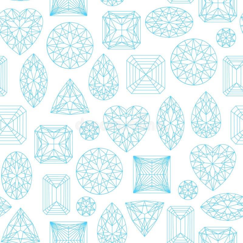 Naadloos die patroon van diamanten wordt gemaakt royalty-vrije illustratie