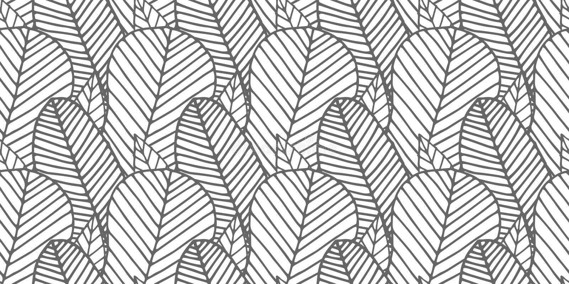 Naadloos die patroon van zwart-wit veren wordt gemaakt stock illustratie
