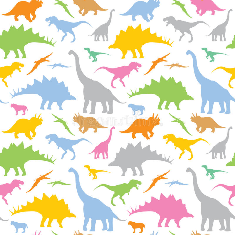 Naadloos dinosauruspatroon royalty-vrije illustratie