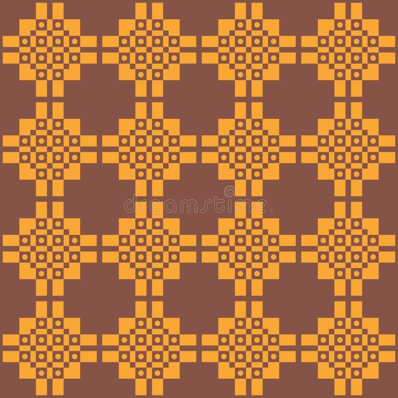 Naadloos donker etnisch patroon in warme kleuren royalty-vrije illustratie