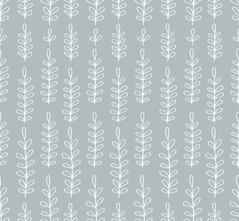 Naadloos eenvoudig bloemenpatroon stock illustratie