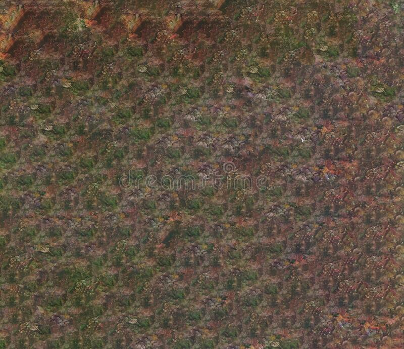 Naadloos, eindeloos bruin waterkleurpatroon met de Achtergrond van de Gradiënt van de lijn van de Florence royalty-vrije stock afbeeldingen