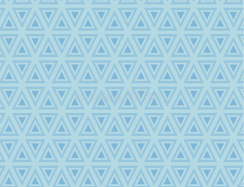 Naadloos Eindeloos Oneindig Patroon van het Afwisselen rechtstreeks en Bovenkantdriehoeken in Directe Lijn r vector illustratie