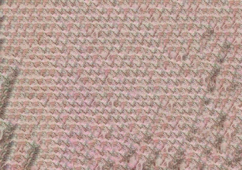 Naadloos, eindeloos violet Abstract waterkleurpatroon met de achtergrond van de verloopgradiënt van de Floral-lijn stock afbeelding