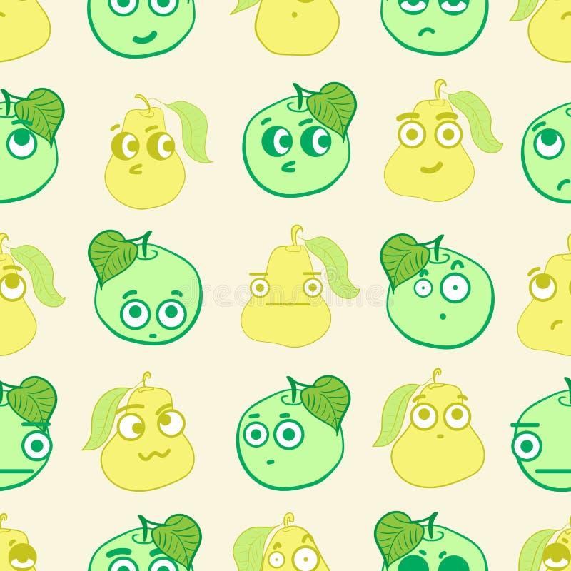 Naadloos emotioneel fruit stock illustratie