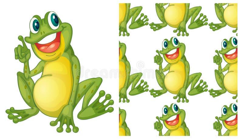 Naadloos en geïsoleerd dierlijk patroonbeeldverhaal stock illustratie