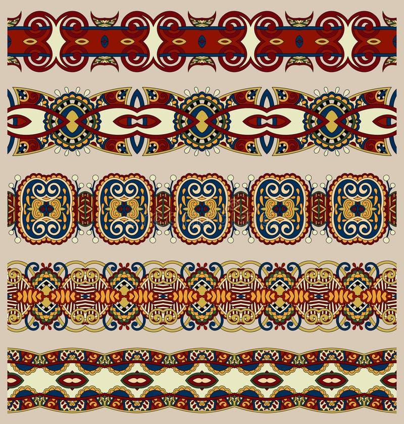 Naadloos etnisch bloemen de streeppatroon van Paisley royalty-vrije illustratie