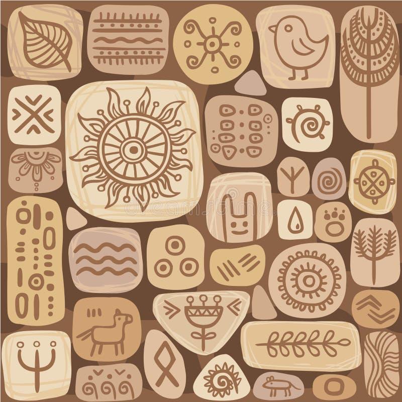 Naadloos etnisch ornament vector illustratie