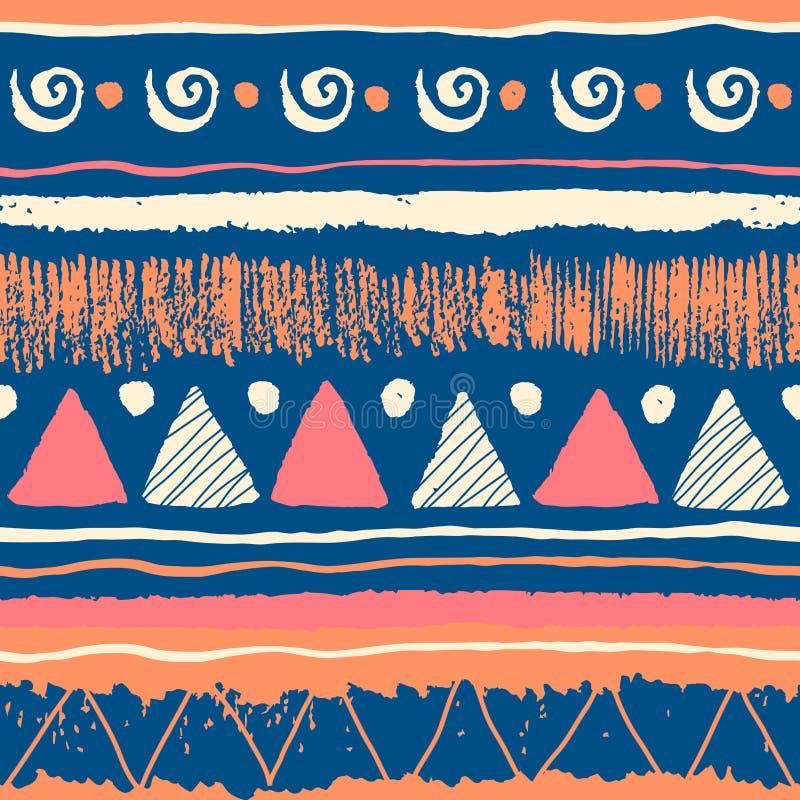 Naadloos etnisch patroon vector illustratie