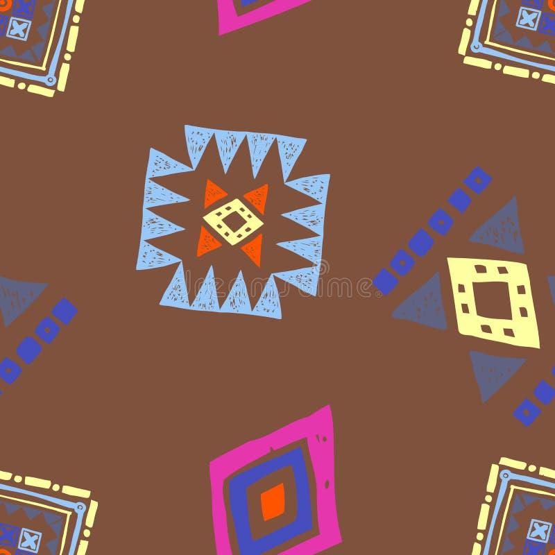 Naadloos etnisch patroon Stammen vector abstracte achtergrond vector illustratie