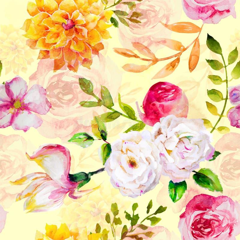 Naadloos exotisch floreel modepatroon royalty-vrije stock afbeelding