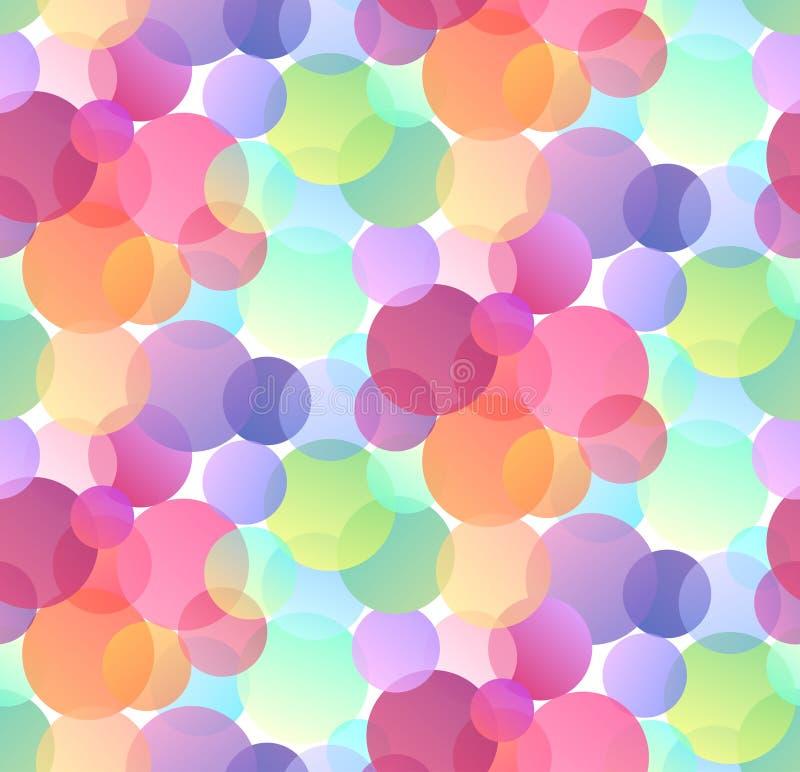 Naadloos feestelijk patroon met multicolored confettien op witte achtergrond Gradiënt bokeh stock illustratie