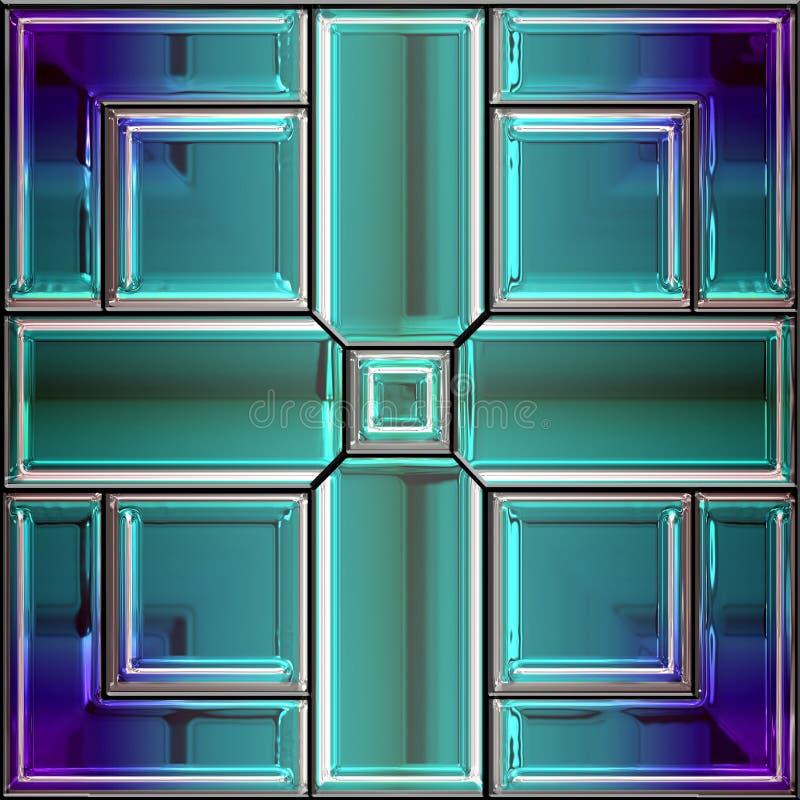 Naadloos gebrandschilderd glasvenster stock illustratie
