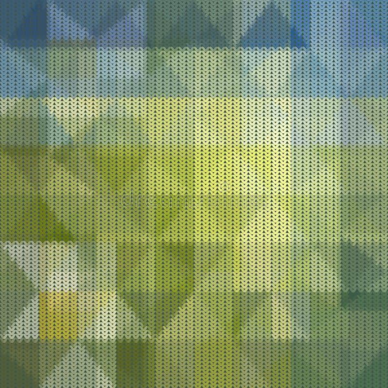 Naadloos gebreid abstract patroon stock illustratie