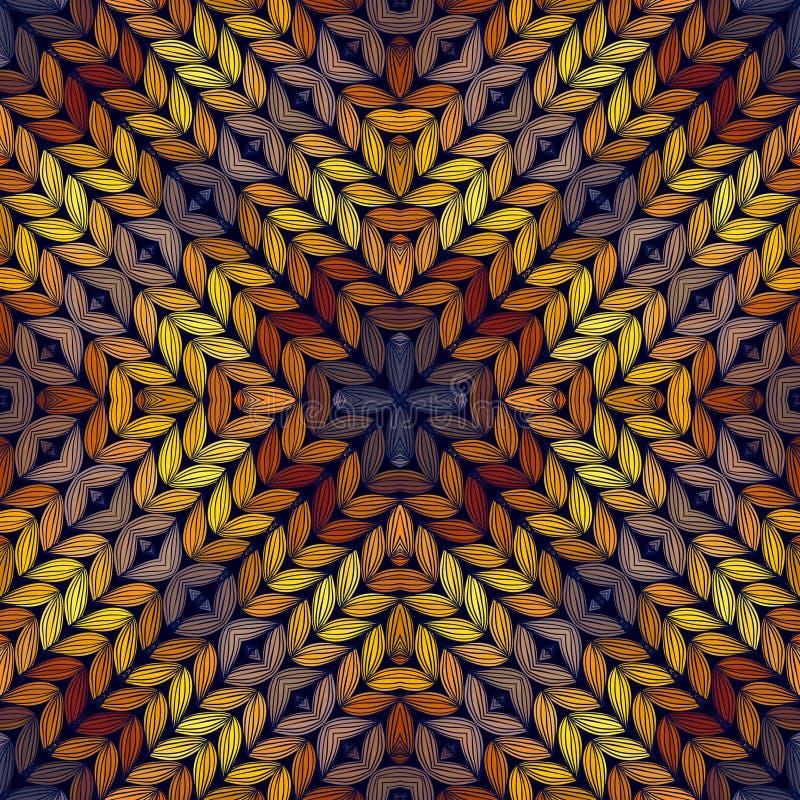 Naadloos gebreid abstract patroon royalty-vrije illustratie