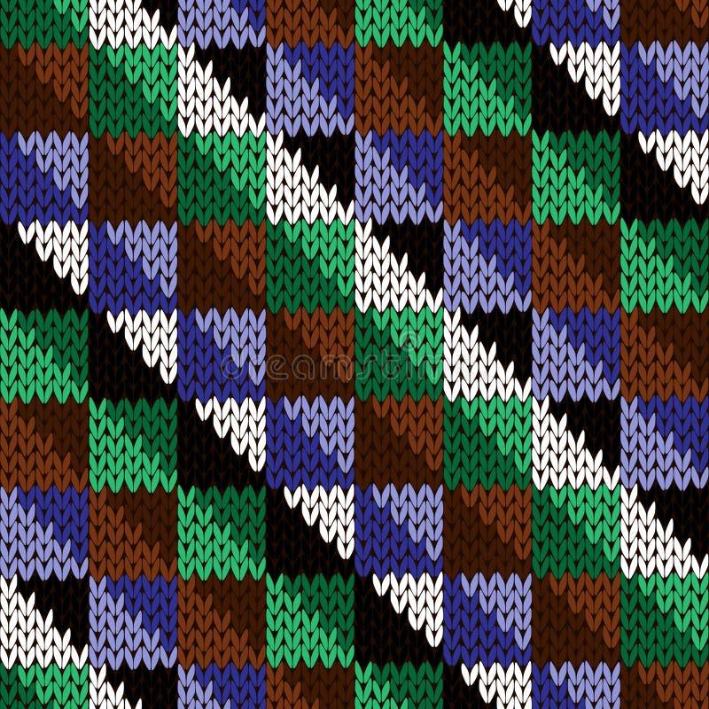 Naadloos gebreid diagonaal geometrisch patroon stock illustratie